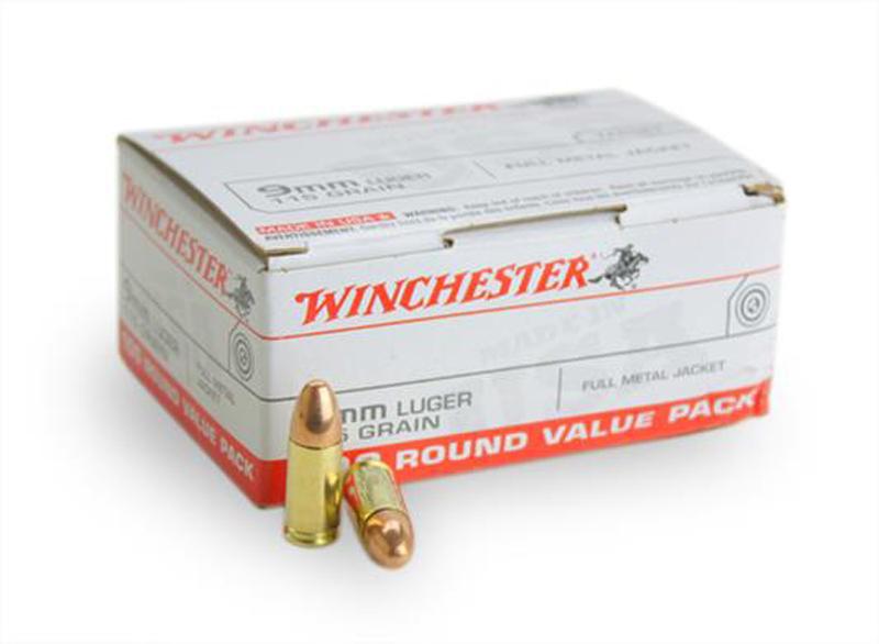 Winchester 9mm 115 Grain FMJ 100 Rounds/Box