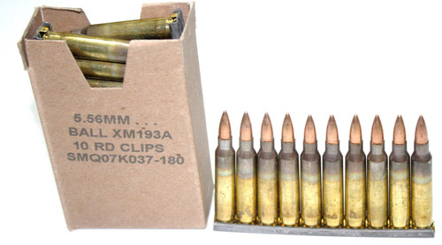 Lake City 5 56mm Ammunition 30rd box on stripper clips
