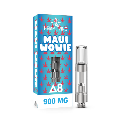 Maui Wowie Delta 8 THC Vape Cart by Hemp Living