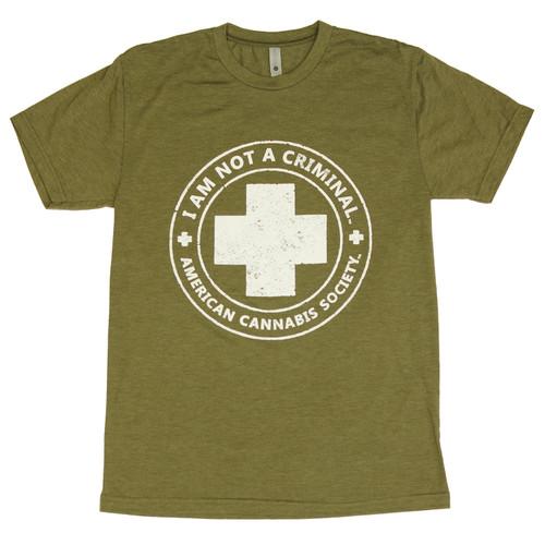 Green I'm Not A Criminal T-Shirt