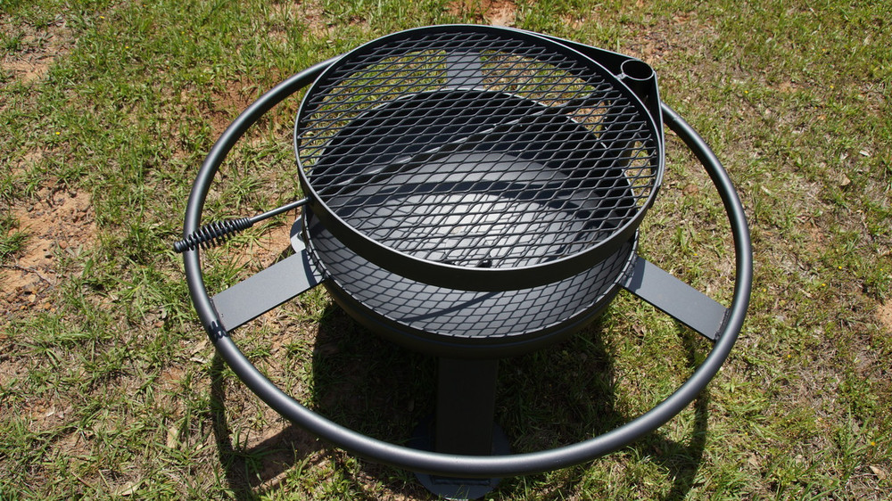 24 Inch Fire Pit With Grill Top