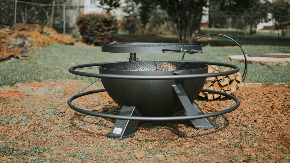 Best fire pit in Texas heavy duty high quality adjustable cook grill top