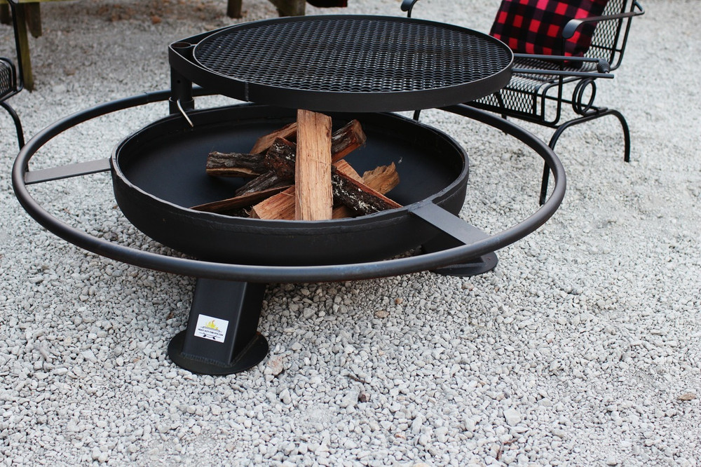 Heavy duty steel fire pit made in America