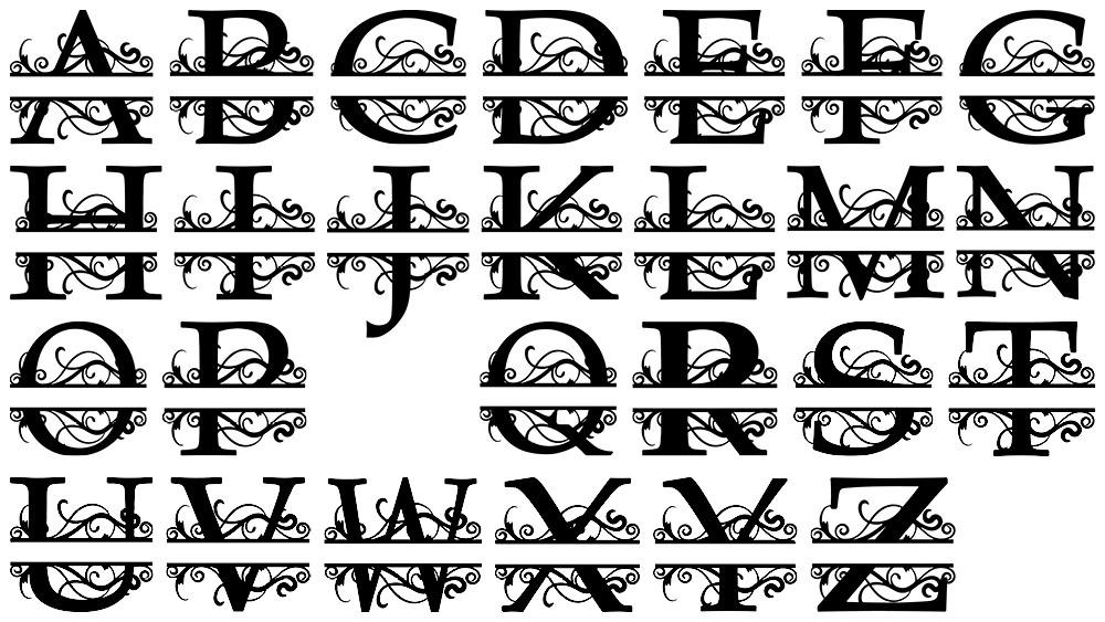 Custom Split Monogram