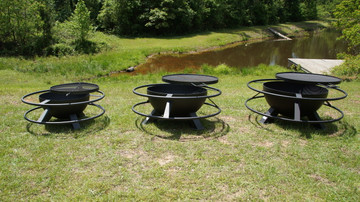 The best fire pit made in Texas great for a patio or backyard