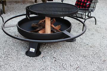 Heavy duty steel fire pit made in America