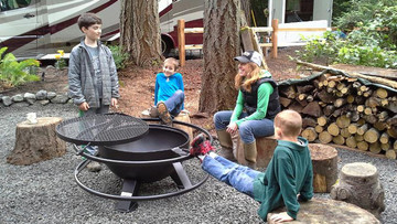30 Inch Deep Fire Pit With Grill Top