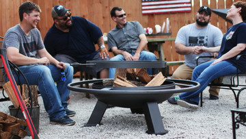 30 Inch Fire Pit With Grill Top