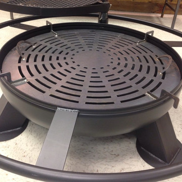 Charcoal Grate For A Heavy Duty Fire Pit