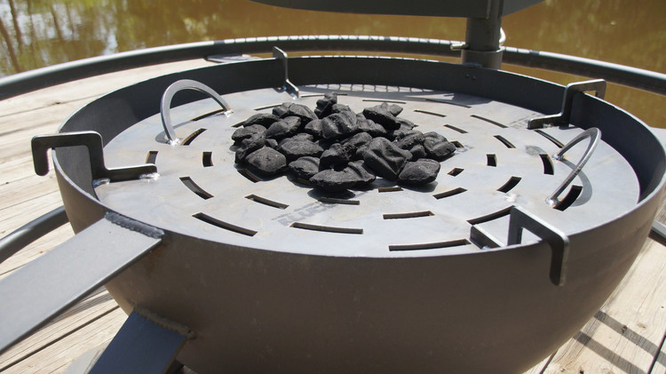 Cooking At Home On A Fire Pit Using Charcoal Just Got Easier