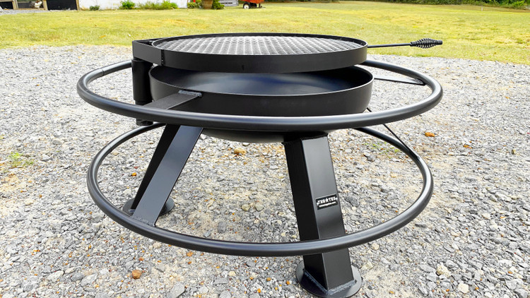 """37"""" Tall Fire Pit with Grill Top"""