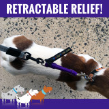 Works with any retractable leash to provide shock absorbing relief.  Less stress on your Shoulder and Arm.  Stop Getting Jerked Around.