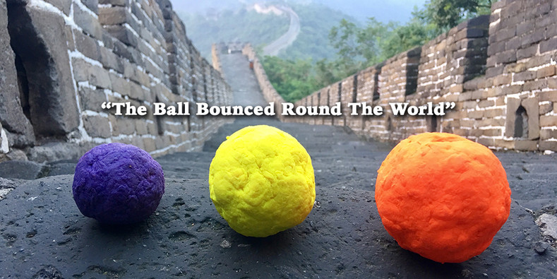 """The Ball Bounced Round The World"" - WUNDERBALL is  the best fetch ball for dogs of any size"