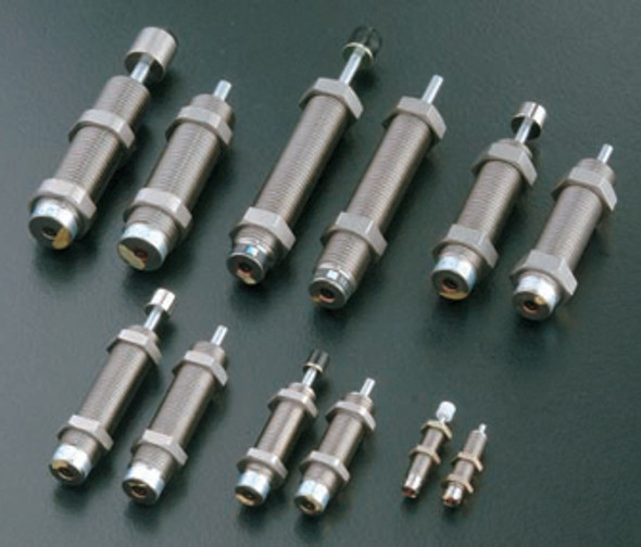 FK-1417L-C, Extension force: 8.9 N, Overall Length: 107mm, Cylinder Length: 80mm, Stroke: 17 mm