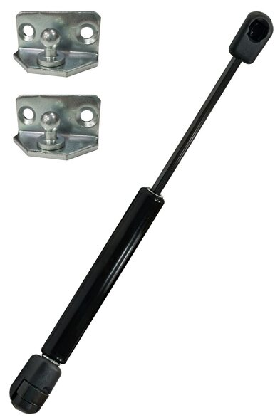 """W6W6F40-250-605-065N Gas Spring 9.84""""(250mm) Stroke 23.81""""(605mm) Extended Length 15lbs(065N) Force Includes brackets"""