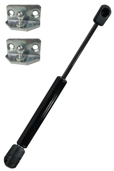 """W6W6F40-250-605-180N Gas Spring 9.84""""(250mm) Stroke 23.81""""(605mm) Extended Length 40lbs(180N) Force Includes brackets"""