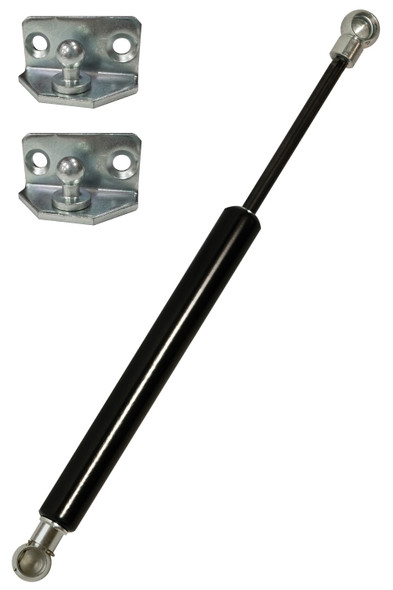 """P3P3F45-203-540-065N Gas Spring 7.99""""(203mm) Stroke 21.25""""(540mm) Extended Length 15lbs(065N) Force Includes brackets"""