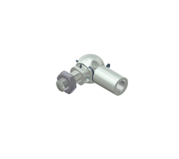 H3 M8 Zinc Plated Steel Elbow Joint Endfitting