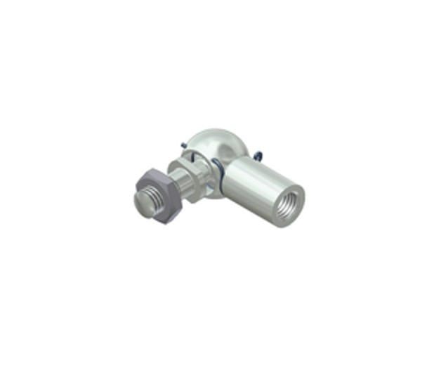 C3 M5 Zinc Plated Steel Elbow Joint Endfitting