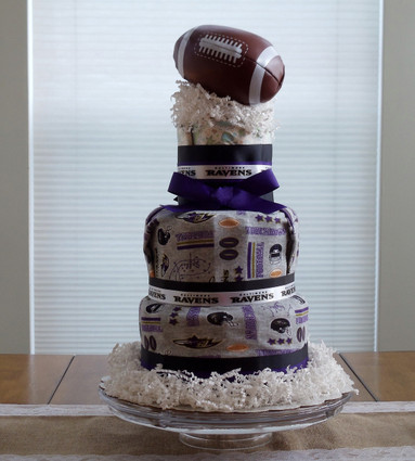 Baltimore Raven's Eco Touchdown diaper cake