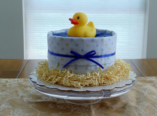 "Blue ""It's a Boy!"" Splish Splash Bath Diaper Cake & Baby Shower Centerpiece"