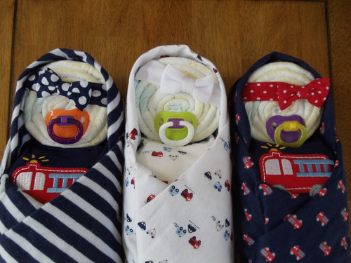 Assorted Girl's Fire Engine Swaddles Diaper Babies
