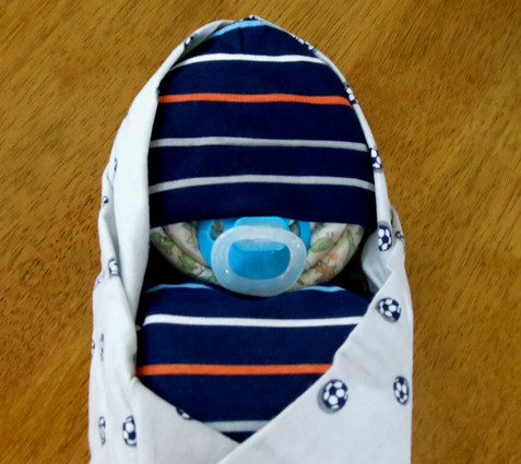 Eco Boy's Multi Stripes and Soccer Swaddle Baby