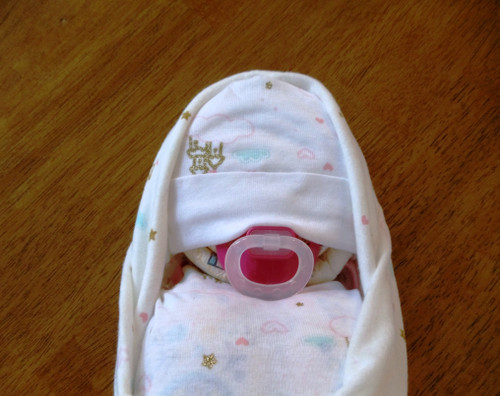Eco Girl Princess Castle Pink and Cream Swaddled Diaper Baby