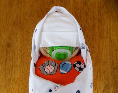 Eco Boy's Sports Swaddled Diaper Baby