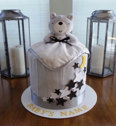 Unisex Eco-friendly Twinkle Bear Drip Diaper Cake