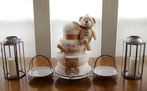 Unisex Baby's First Bear 3 Tier Diaper Cake