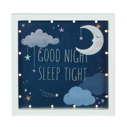 """Good Night Sleep Tight"" LED box frame"