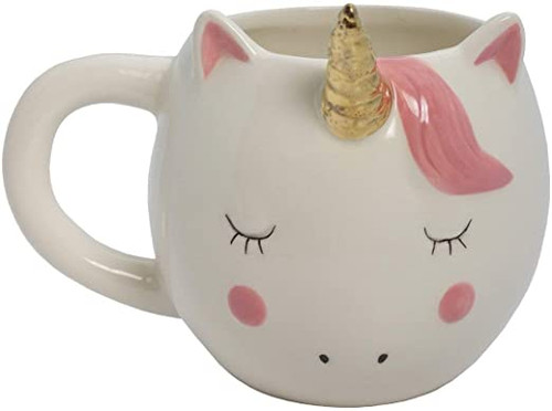 Cream Gold and Pink Unicorn mug