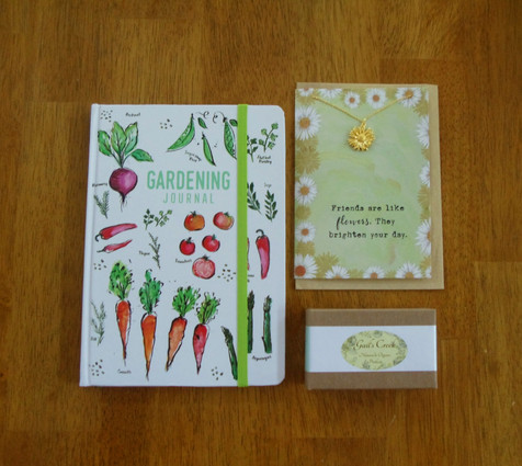 Gardener's Journal, Friends Necklace and Soap gift set