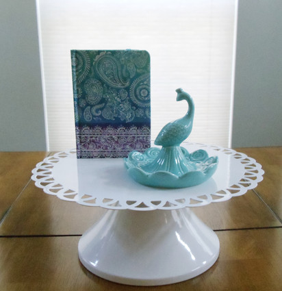 Peacock Jewelry Dish and Paisley Print Journal
