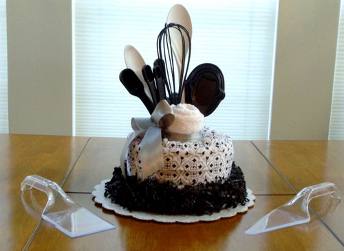 New Black,  White and Gray Kitchen Towel Cake