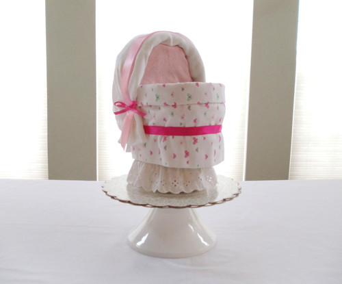 """Eco Butterfly """"You Make Me Happy"""" Bassinet Diaper Cake"""