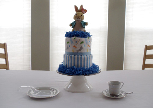 Peter Rabbit Beanie Baby 3 Tier Diaper Cake