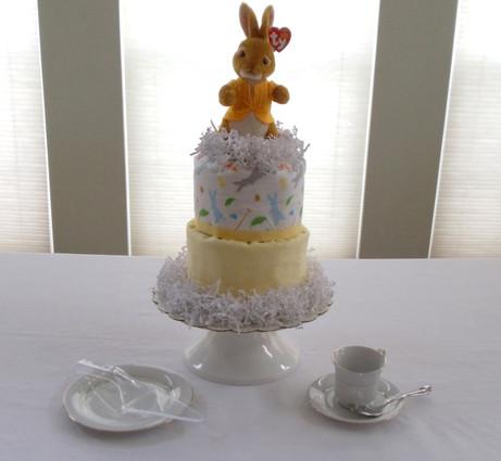 Mopsy Rabbit Ty Beanie Baby 3 Tier Diaper Cake