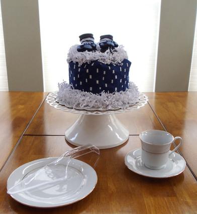 Lets Fly Boy's Eco Baby Bundt Diaper Cake