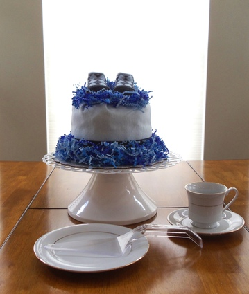 Argyle Blue Boy's Bundt Diaper Cake