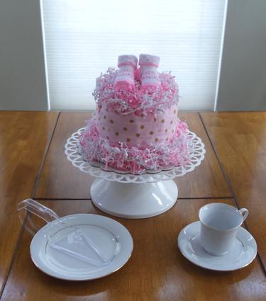 Little Blessing Girl's Baby Bundt Diaper Cake