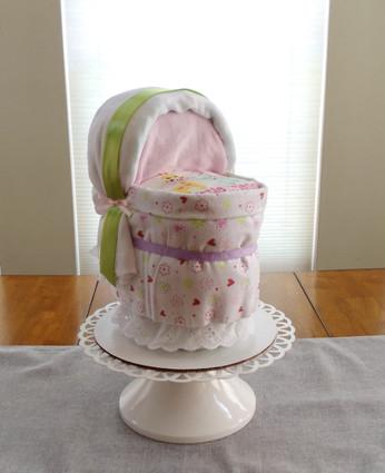 """Girl's """"Little Friends"""" Bassinet Diaper Cake"""