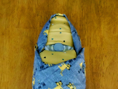 """Boy's """" Be Kind"""" Animals Swaddled Diaper Baby"""