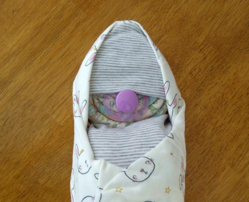 Girl's Eco Princess Rabbit Swaddle Baby