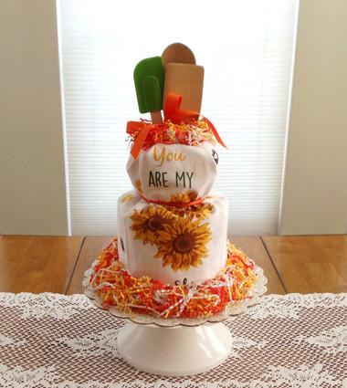 You Are My Sun Shine Kitchen Towel Cake