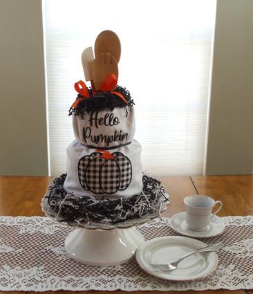 Hello Pumpkin Kitchen Towel cake