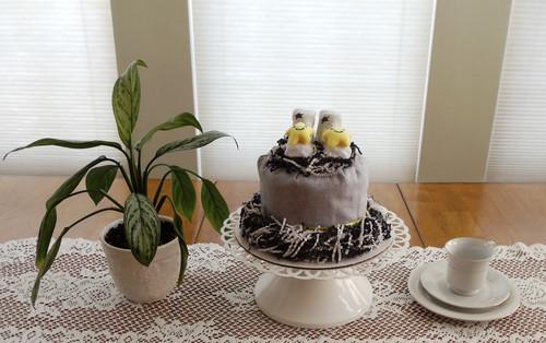 Yellow Stars Rattle Booties Bundt Diaper Cake