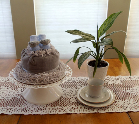 Elephant Unisex Eco Bundt Diaper Cake