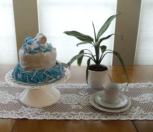 Unisex Happy Cloud Bundt Diaper Cake